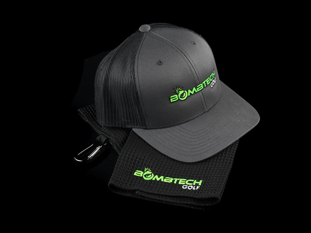 NEW! Bombtech Golf Hat and Towel