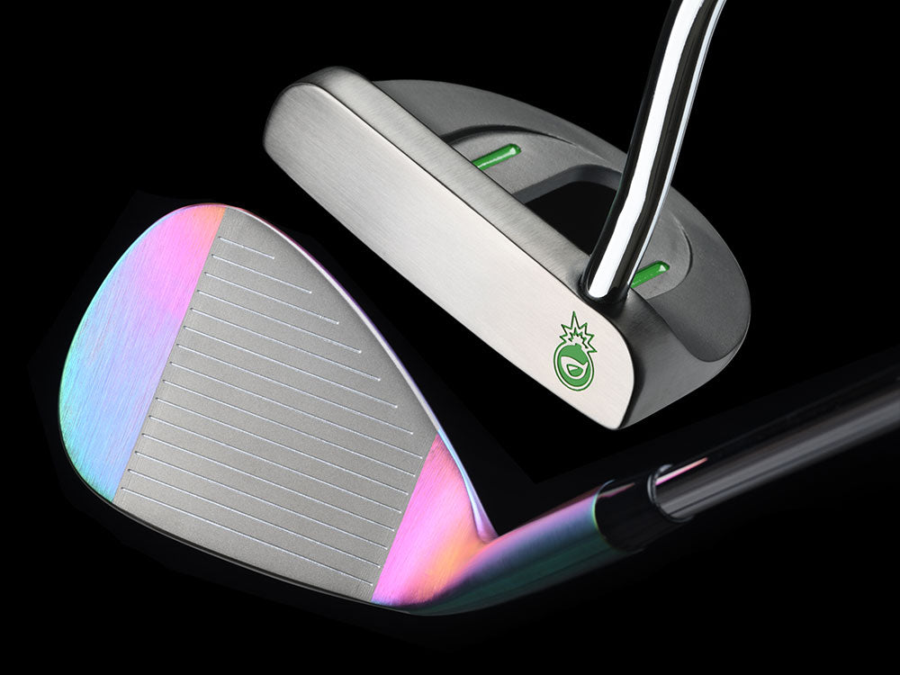 BombTech Short Game Set - 66 Degree Sand Wedge and Mallet Putter