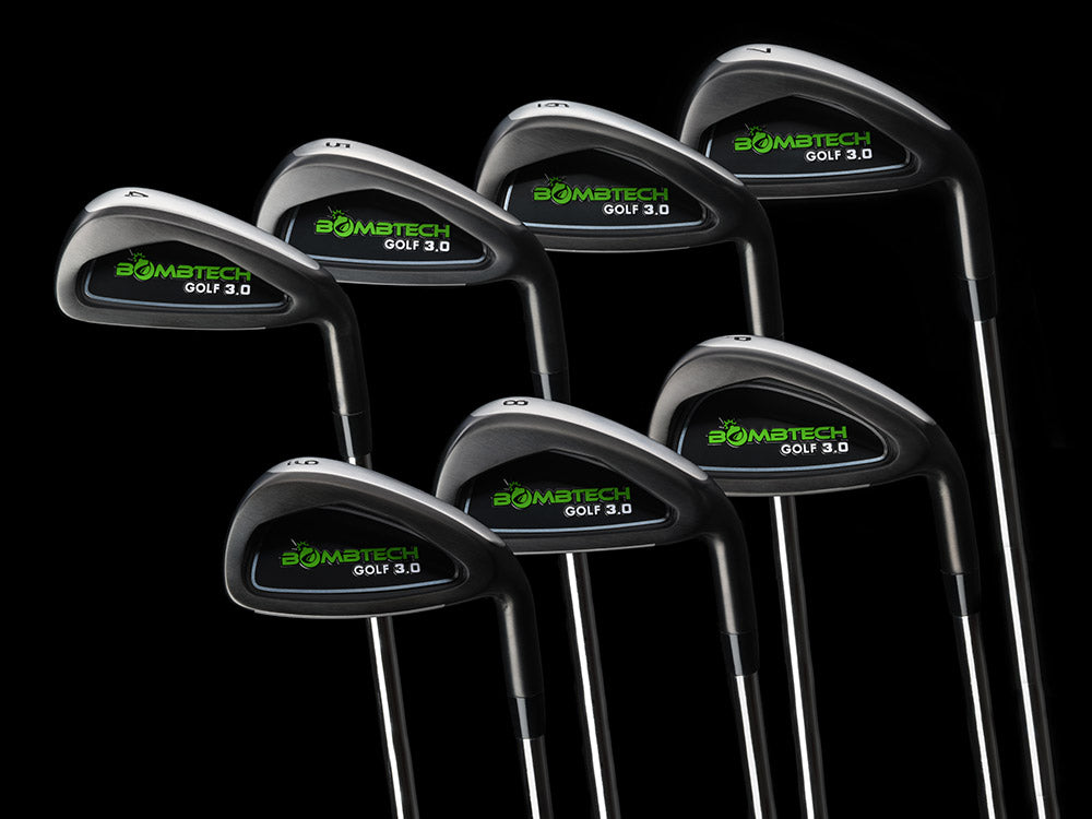 BombTech 3.0  black golf irons sets