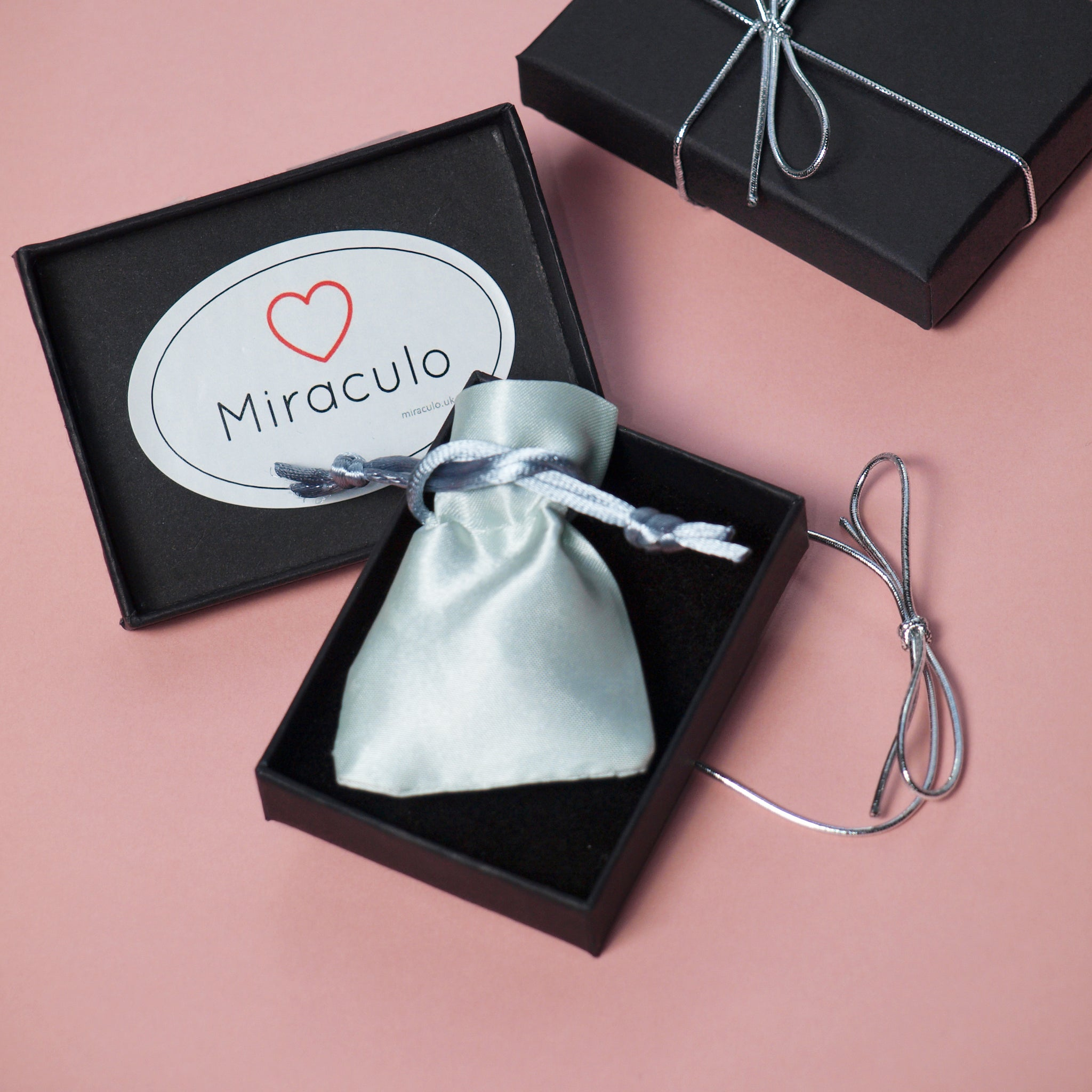 Interlinked Double Heart Pendant with Necklace in Silver – Miraculo