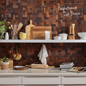 Mosaic - Basketweave Oak Brown