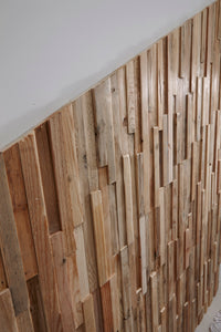 Real wood timber feature walls