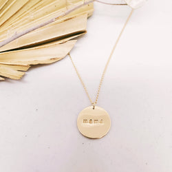 Mama coin necklace