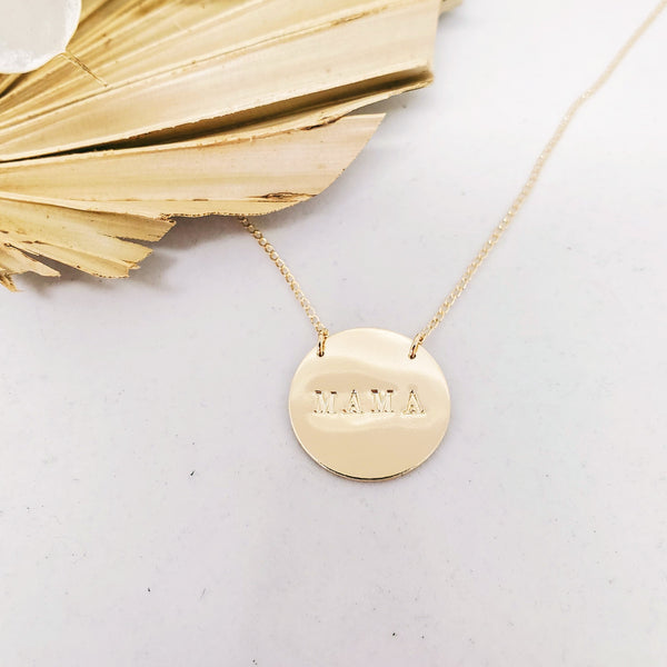 Mama large coin necklace