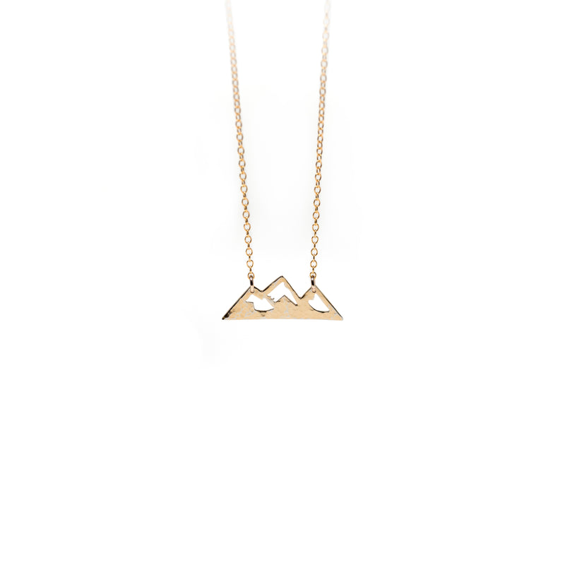 Francs Hammered Mountain Necklace