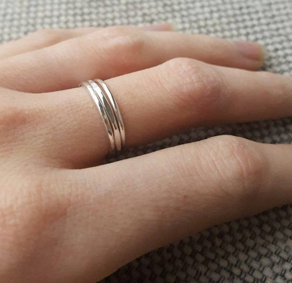 Dainty Stacking Ring - Sterling Silver