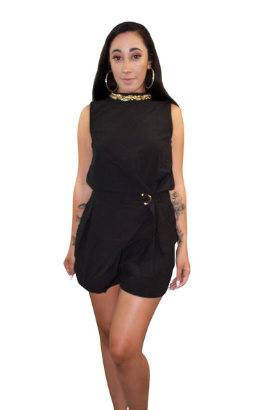 Gold Necklace Romper - Good Looks Fashion