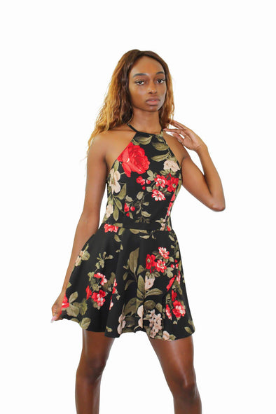 Roses Skirt Romper - Good Looks Fashion