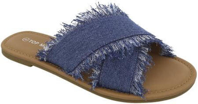 Denim Crisscross Sandals - Good Looks Fashion