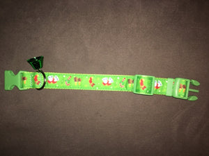 Holiday Collar, Green with Bell