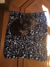 Fluffy fleece dog blanket