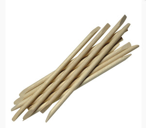 Orange Wood Sticks 100 pack