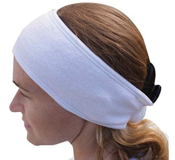 White Towelling Headband