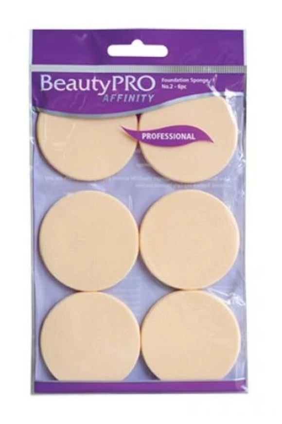BeautyPRO Foundation Sponges - 6pk to practice making fans