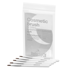 Cosmetic Brush- Silver 5 pack
