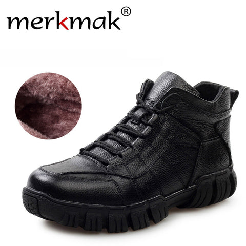 ec69e185a5f777 Hot Super Warm Russian Winter Boots Genuine Leather Men Shoes Thicken Fur Men  Ankle Boots Waterproof