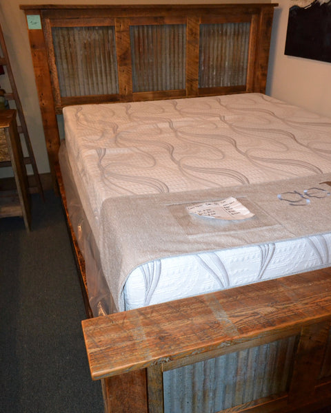 JD Barnwood & Tin Queen Bed