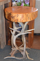 OW Antler/ Slab End Table