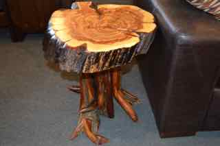 KS Juniper Live Edge End Table