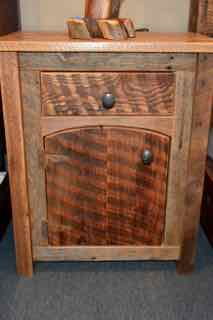 JD Barnwood Arched Door Nightstand