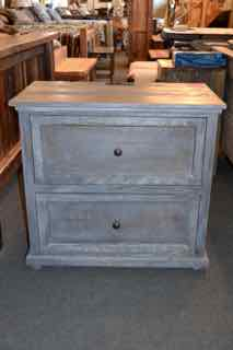 Grey Pine Nightstand