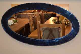 Blue Oval Mirror