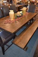 DDSR 8' Alder Dining Table w/ Trestle Base