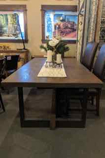 Fir and Steel 7' Dining Table