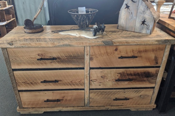 6 Drawer Barn Wood Dresser