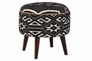 Black and White Accent Stool