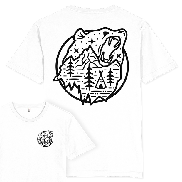 Bear Scene T-shirt / Back Print