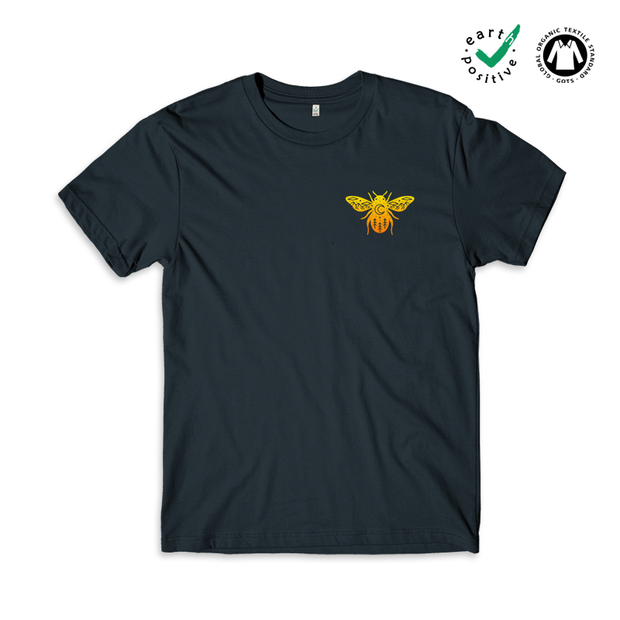BEE Scene Pocket Print Earth Positive T-shirt
