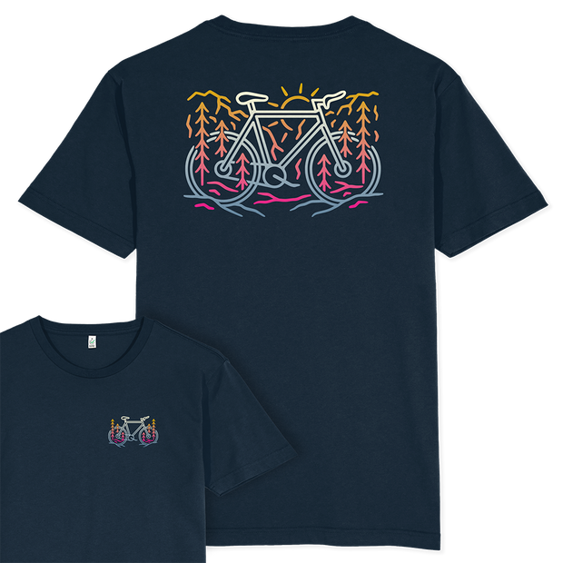 Bike Scene T-shirt / Back Print