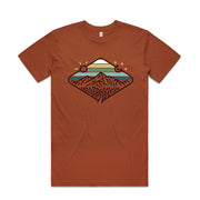 Day & Night Mountains T-shirt / Front Print