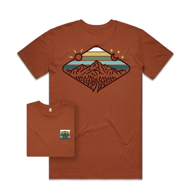 Day & Night Mountains T-shirt / Back Print