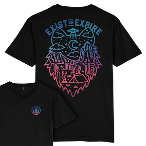 Exist or Expire T-shirt / Back Print