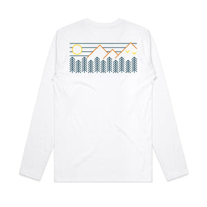 Forest Mountains Back Print / Long Sleeve