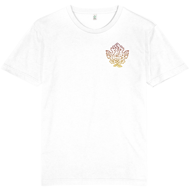 Fox Leaf Pocket Print Earth Positive T-shirt