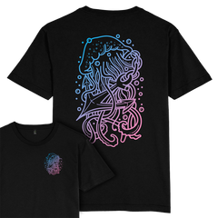 Jellyfish Anchor T-shirt / Back Print