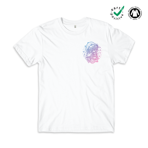 Jellyfish Anchor Pocket Print Earth Positive T-shirt