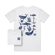 Sea Inspired T-shirt / Back Print