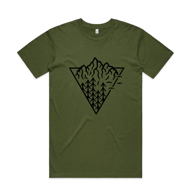 Triangle Mountain T-shirt / Front Print