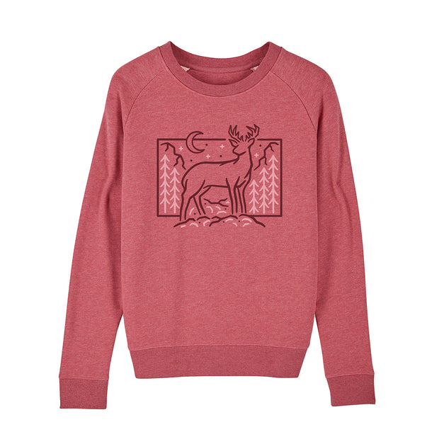 Women's Winter Deer Sweatshirt / Front Print