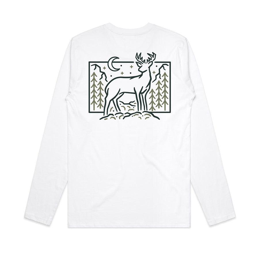 Winter Deer Back Print / Long Sleeve