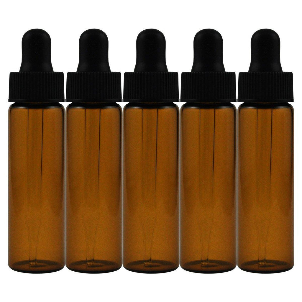 Amber Dropper 2 Dram Bottles Pack