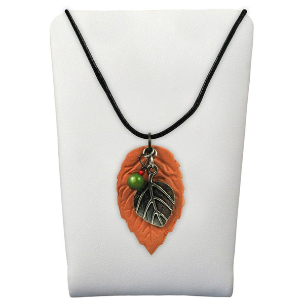 Clay Necklace Leaf Wholesale