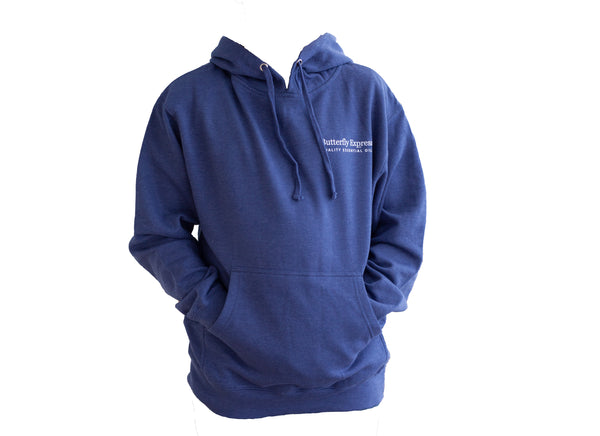 Heather Blue Pullover Hoodie Wholesale