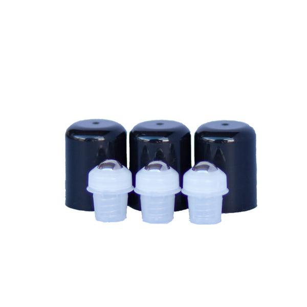 Roller Tops w/Steel for 5ml - 50ml Oil Bottles 3 Pack