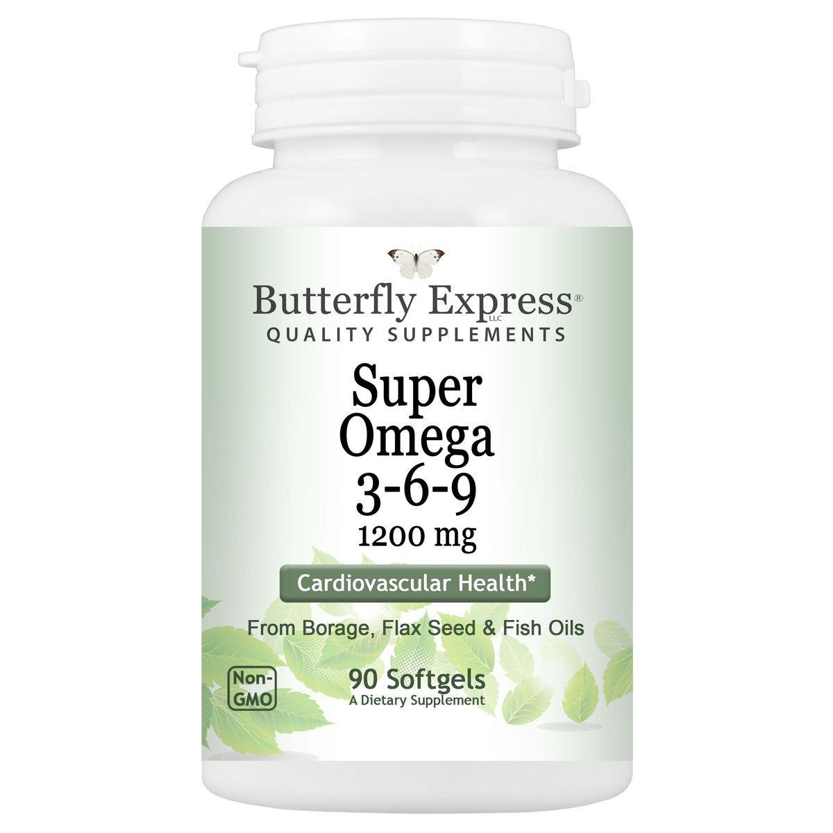 Super Omega 3 6 9 Supplement Butterfly Express Quality Essential Oils