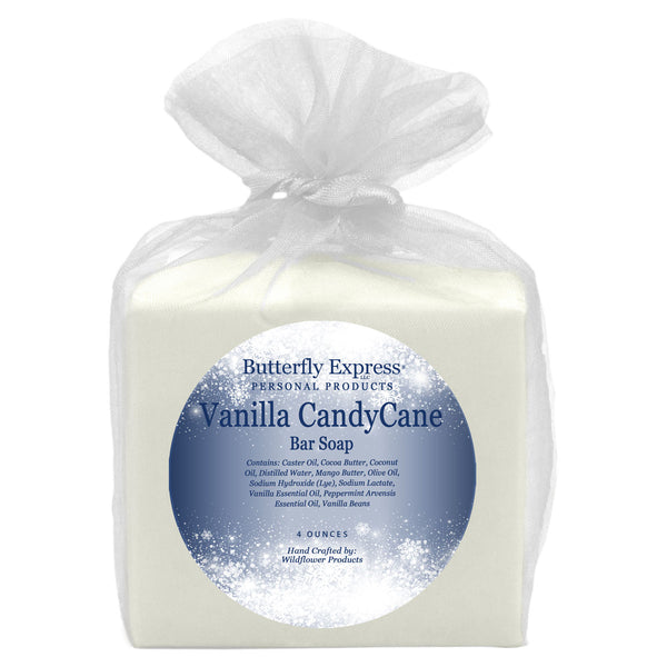 Vanilla Candy Cane Bar Soap Wholesale